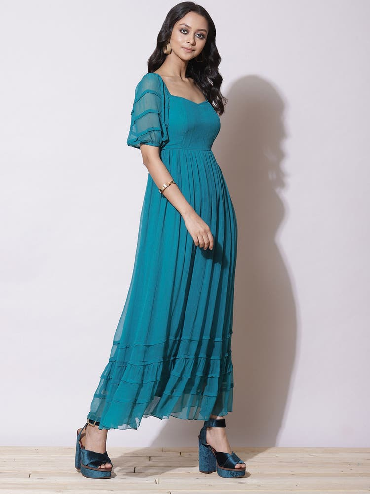 Teal Blue Maxi Dress