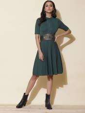 Emerald Green Skater Dress