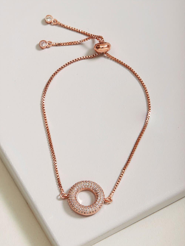 Rose Gold  Cubic Zirconia Bracelet
