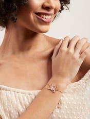 Rose Gold Dog Cubic Zirconia Bracelet