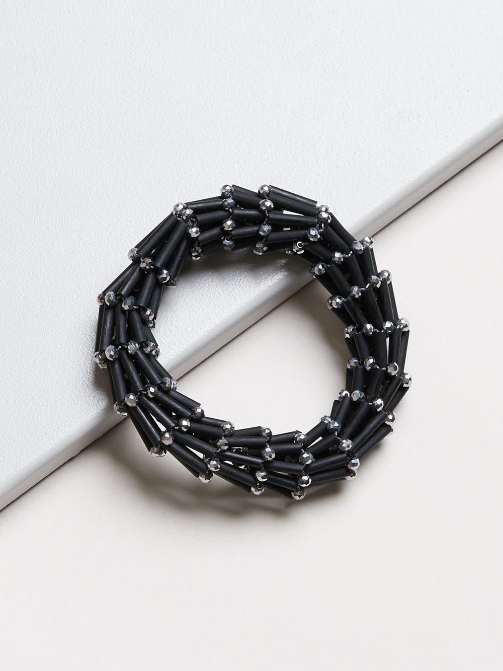 Hematite Spiral Bracelet