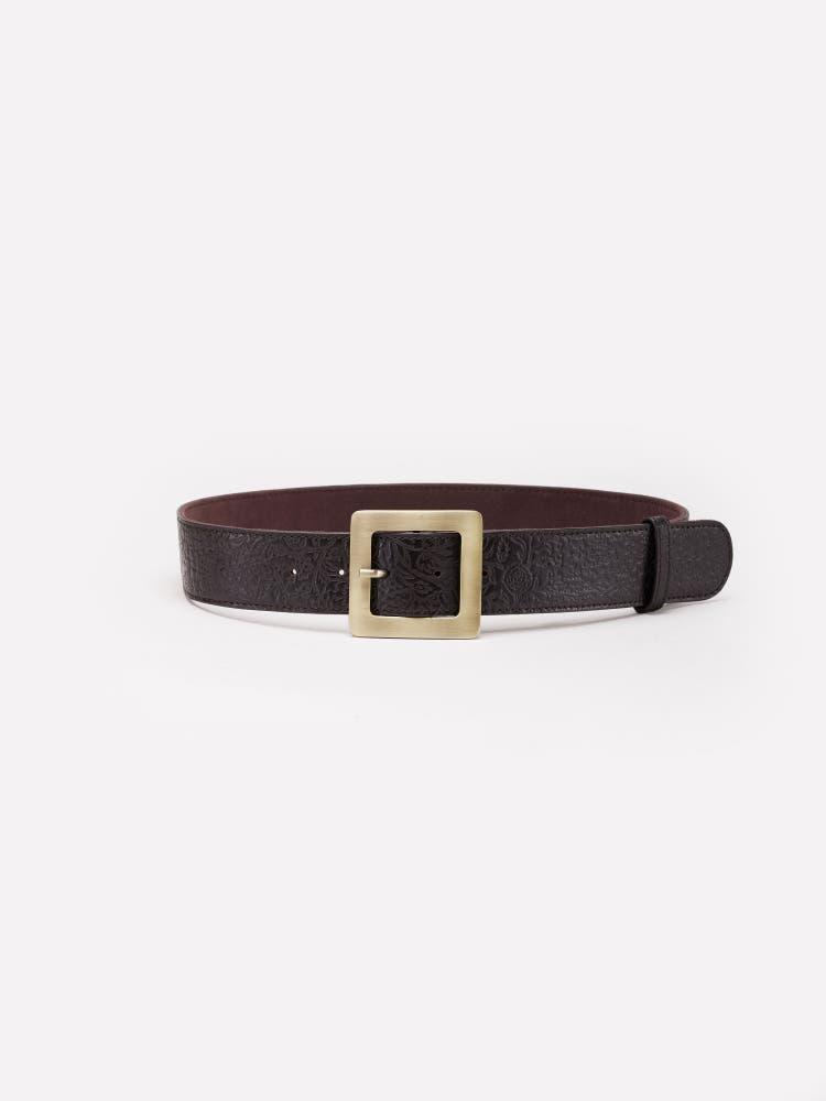 Dark Tan Leather Belt
