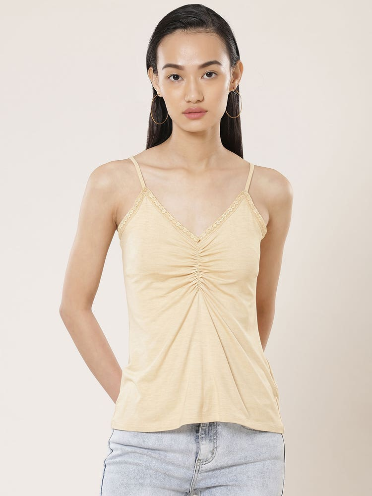 Beige Lace Camisole