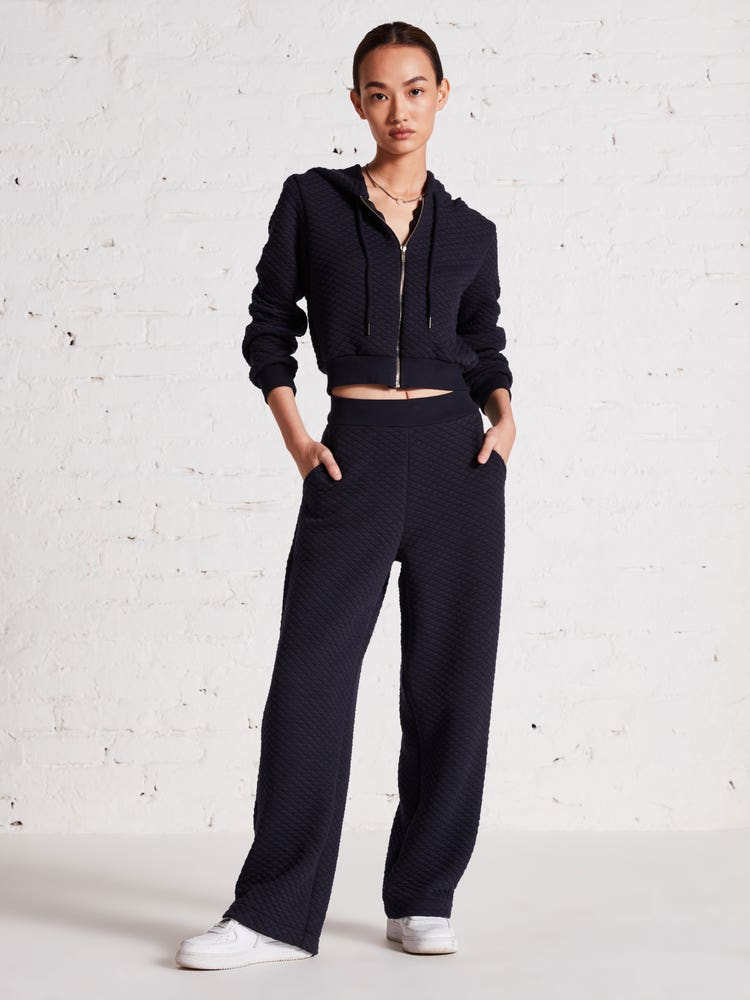 Navy Blue Quilted Co-ord Set