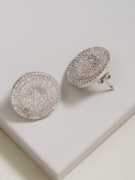 Silver Zirconia Stud  Earrings