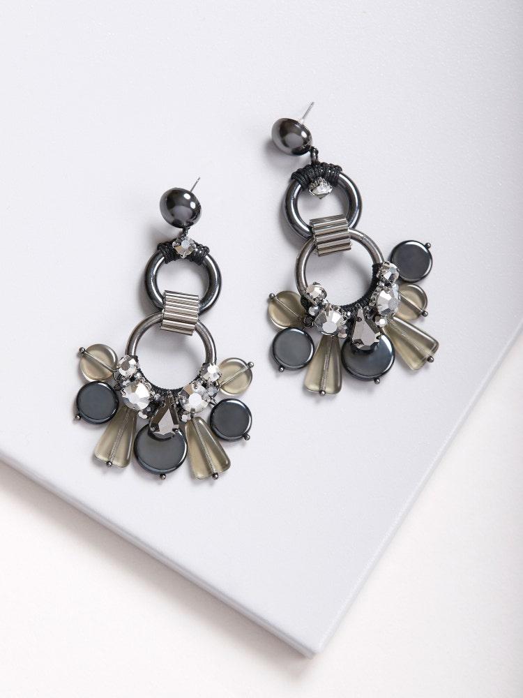 Hematite Dancing Cascade Earrings