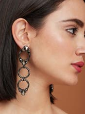 Hematite Crystal Earrings