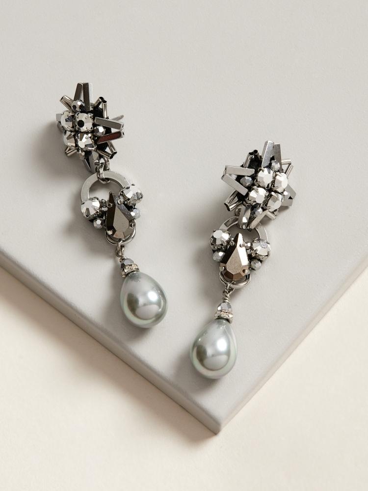 Silver Star-light Earrings
