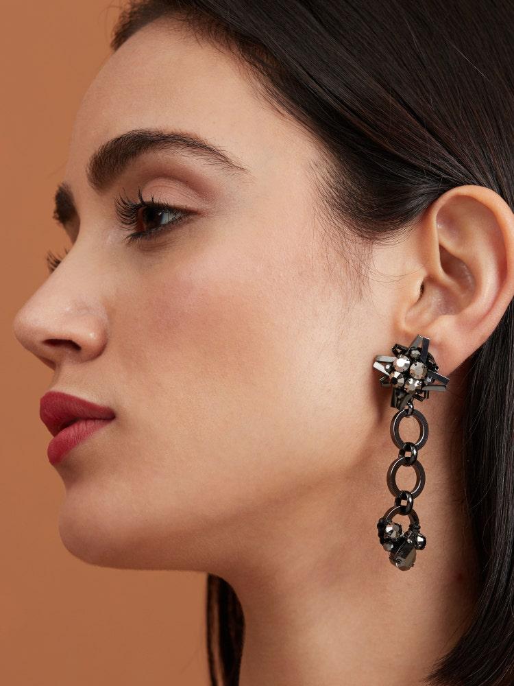 Hematite Starry Earrings