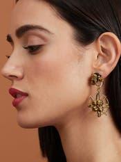 Gold Nebula Earrings