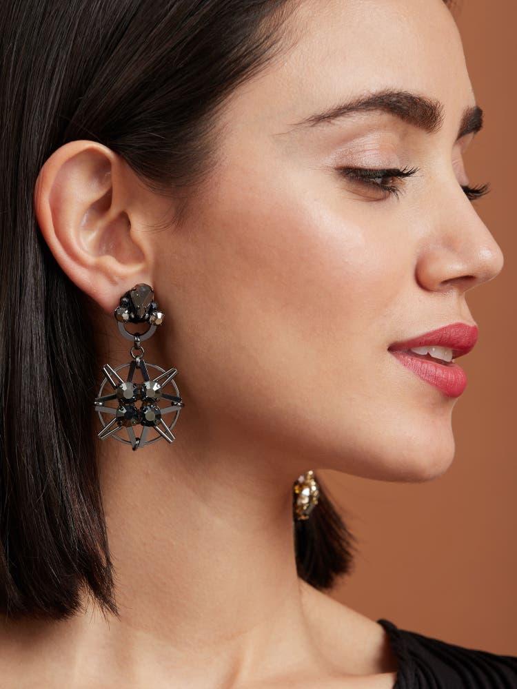 Hematite Nebula Earrings