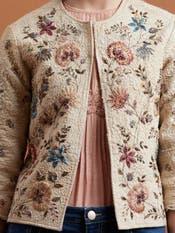 Ecru Textured Jacket