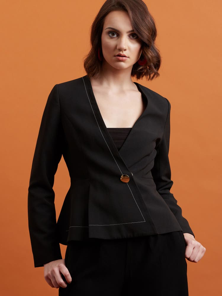 Black Structured Blazer