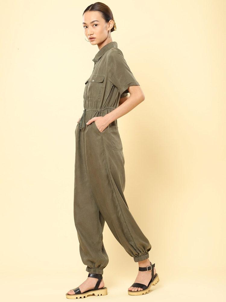 Olive Green Jumpsuit