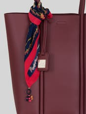 Burgundy Tote Bag with Scarf