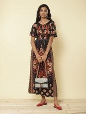 Black Printed Long Dress