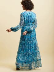 Blue Paisley Long Dress