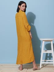 Kiara Advani in a Mustard Sequin Shirt Dress