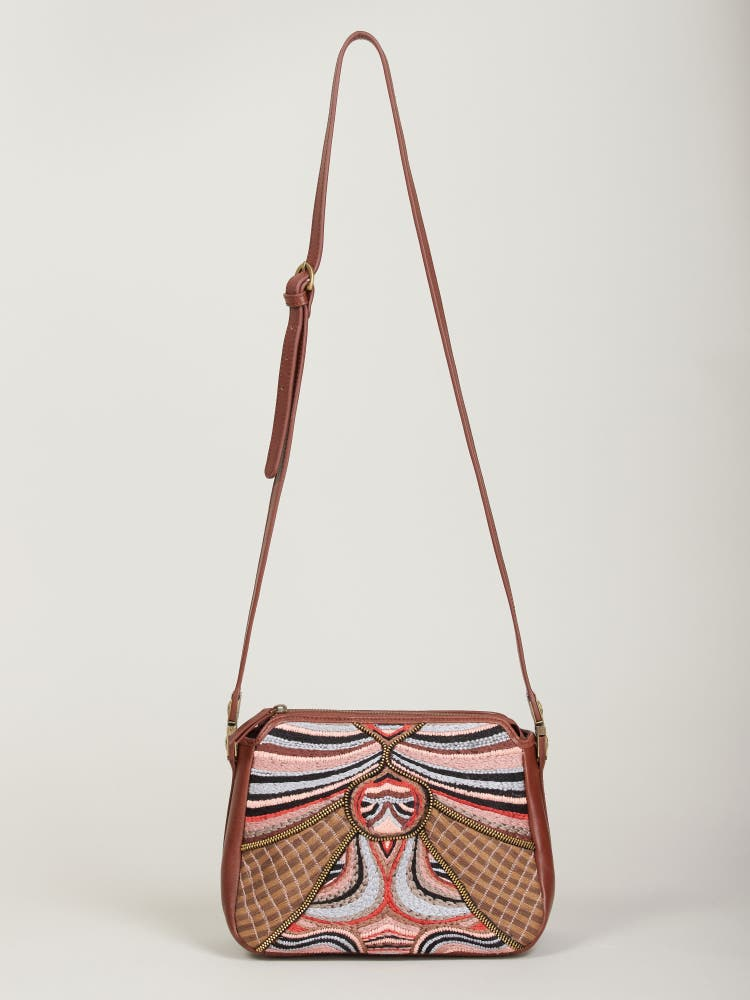Multi Coloured Abstract Sling Bag