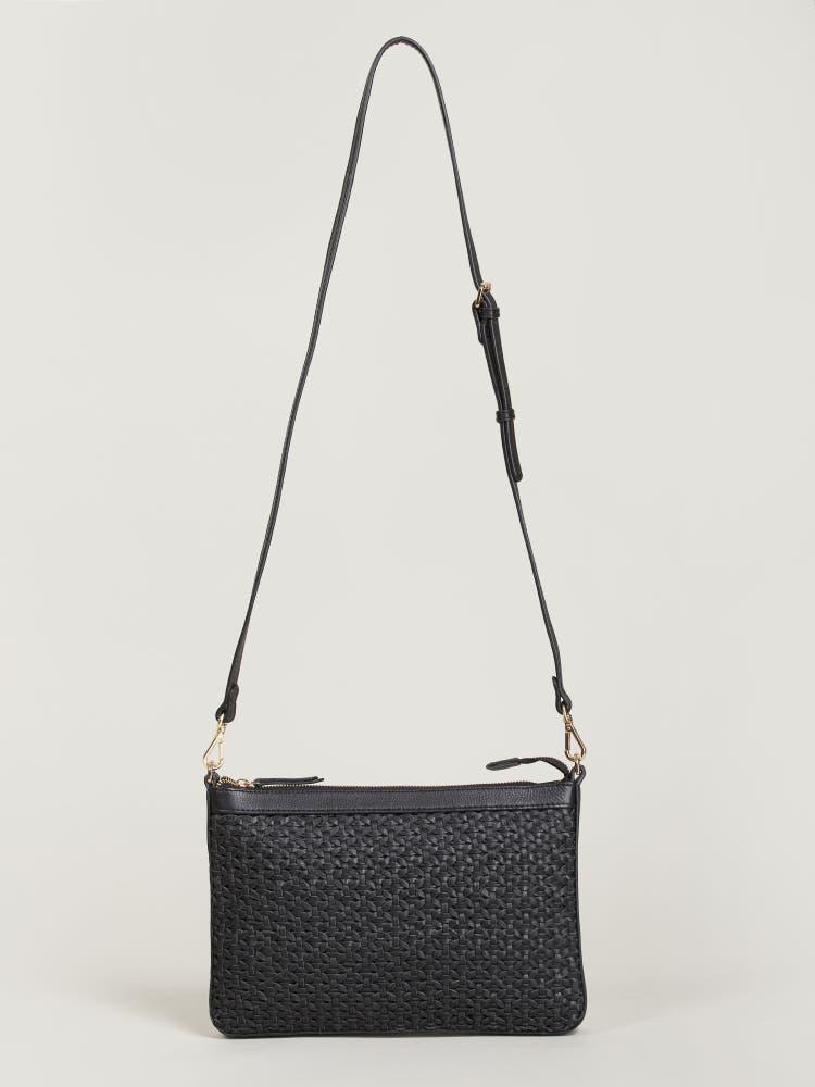 Black Weave Sling Bag