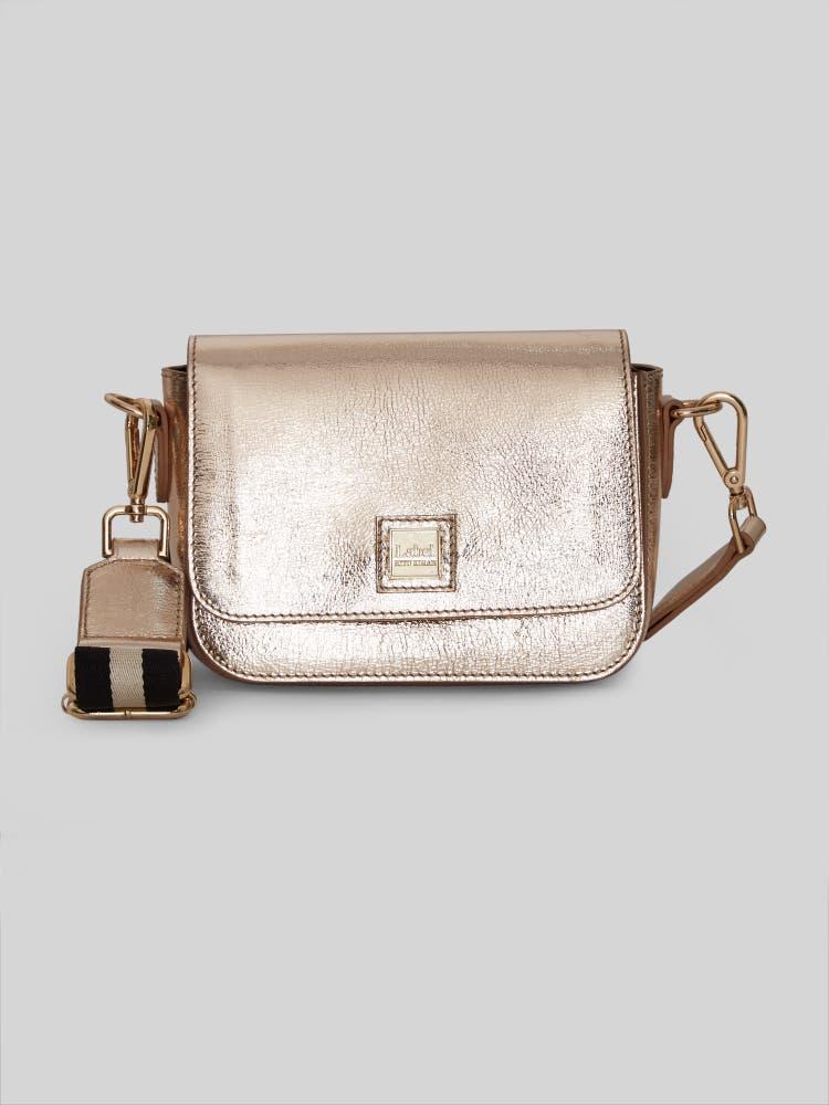 Bronze Leather Sling Bag