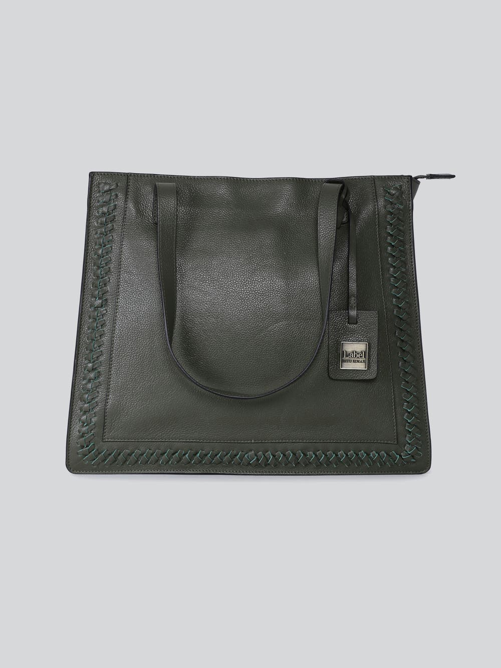 Olive Green Leather Shoulder Bag