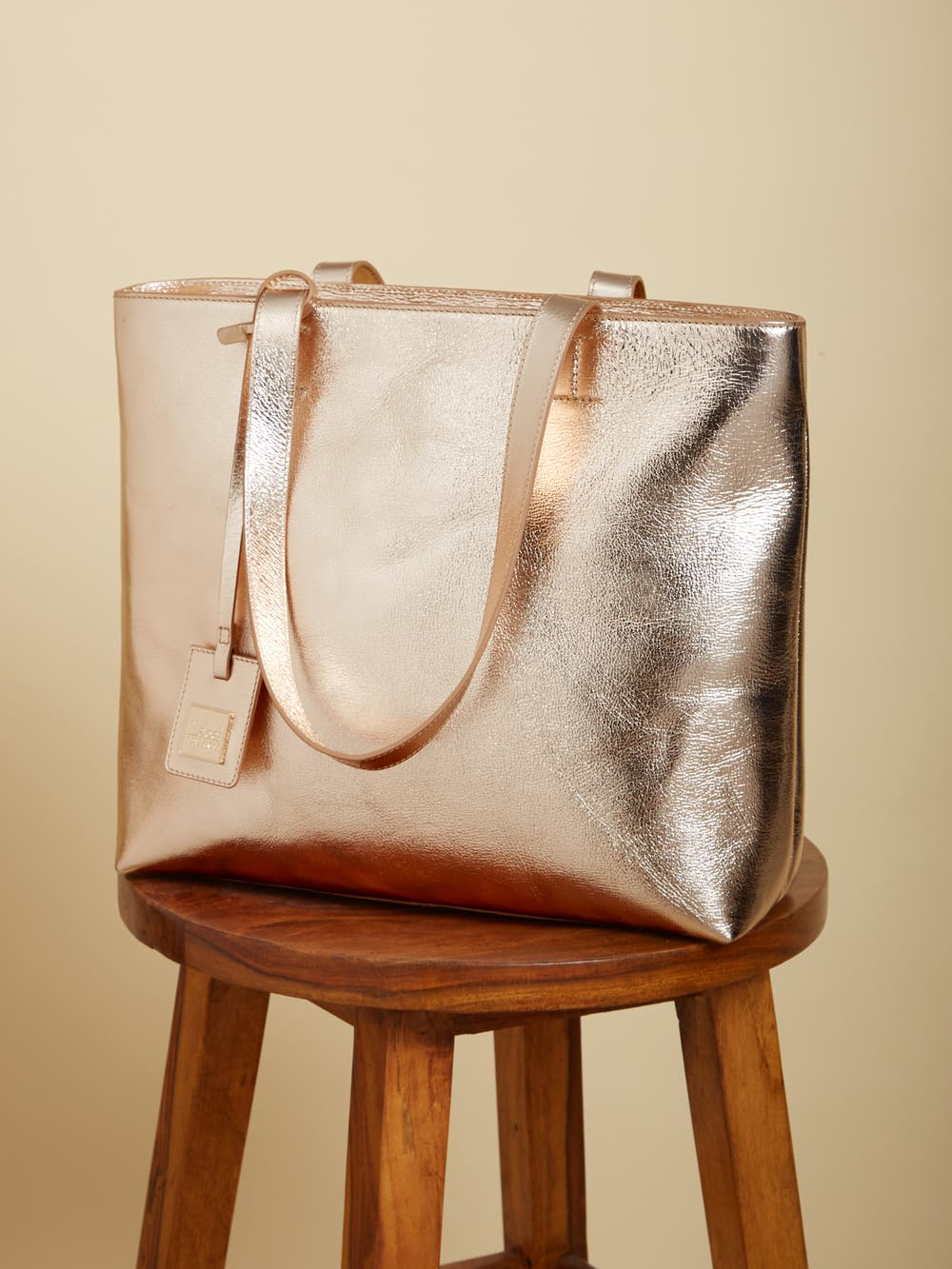 Bronze Leather Tote Bag