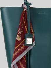 Emerald Green Tote Bag with Scarf