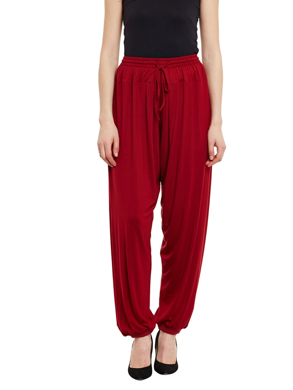 Deep Red Jogger Pants