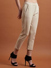 Beige Everyday Trousers