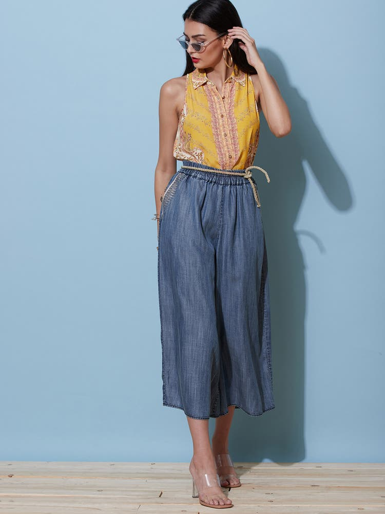Wide-Legged Tencil Culottes