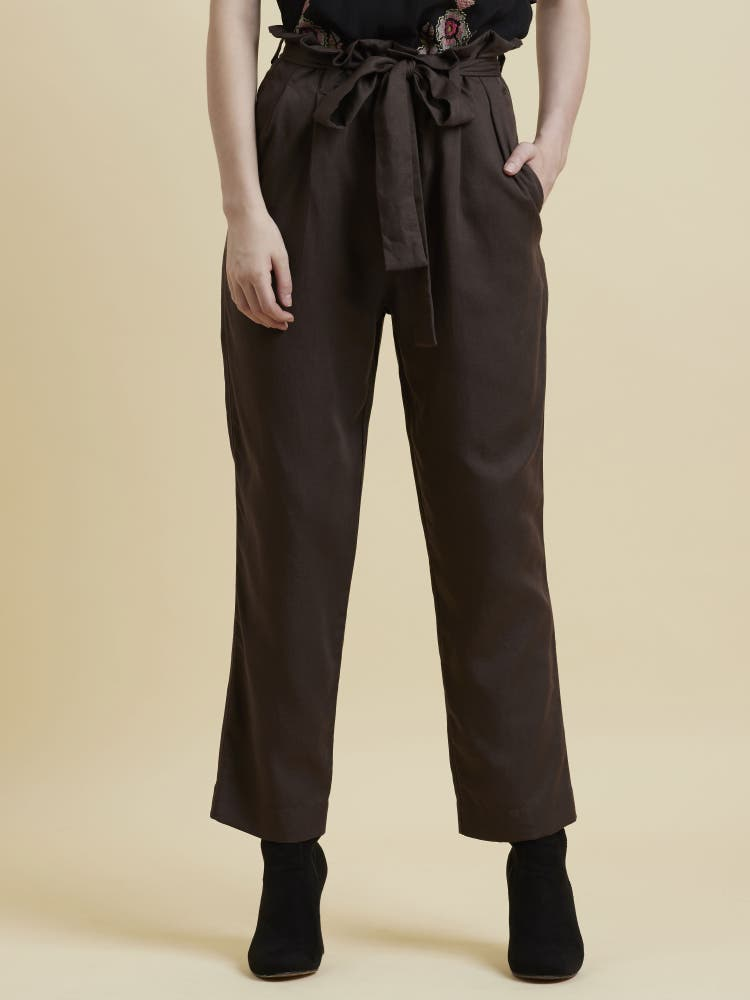Brown High Waist Pant