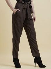Brown High Waist Pant