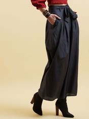 Grey Tie-Up Trousers