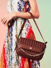 Tan Classic Curve Shoulder Bag