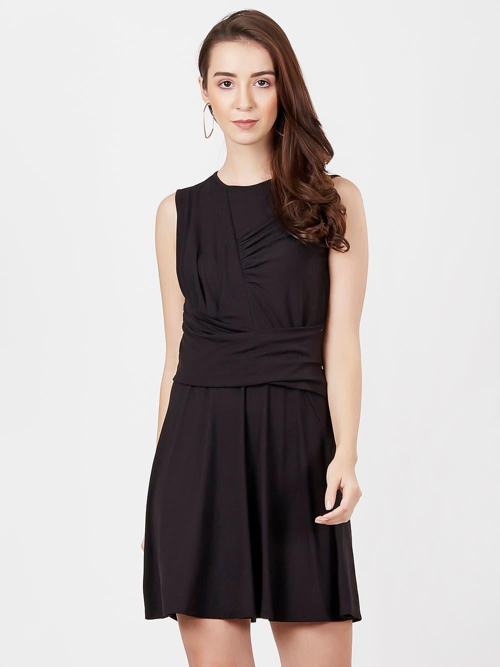 Black Jersey Short Dress