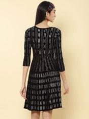 Black Structured Short Dress