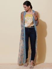Multi-Coloured Floral Print Shrug