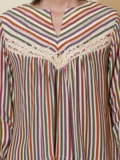 Stripe-on-Stripe Printed Top