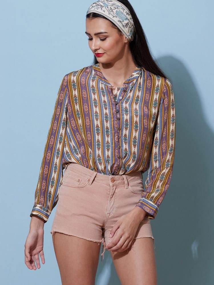 Multi-Coloured Geometric Shirt