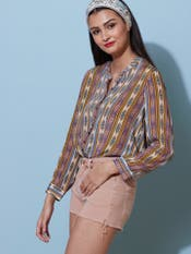 Multi-Coloured Geometric Shirt