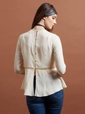 Off White Embellished Top