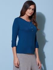 Navy Blue Henley T-Shirt