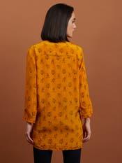 Yellow Floral Print Shirt