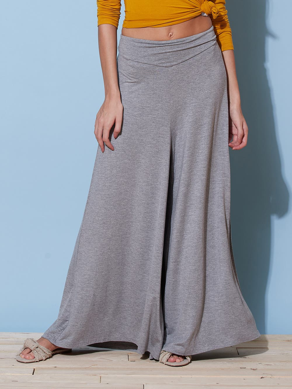 Grey Basic Yoga Pants