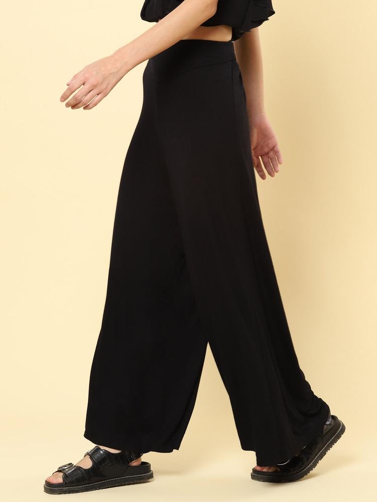 Black Jersey Yoga Pants