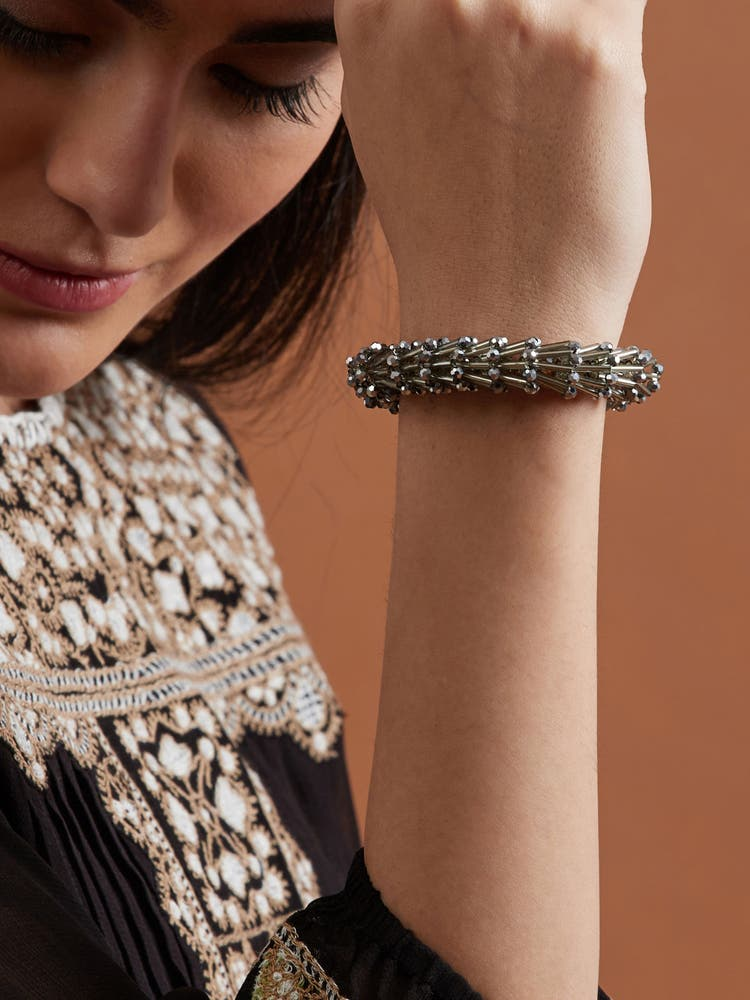 Grey Spiral Bracelet