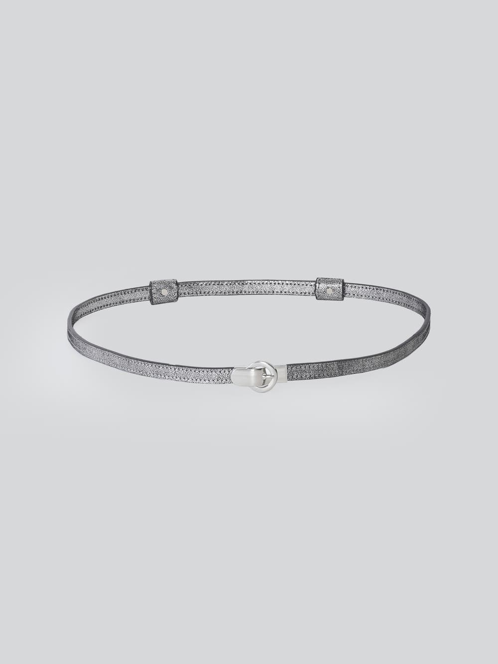 Silver Adjustable Belt