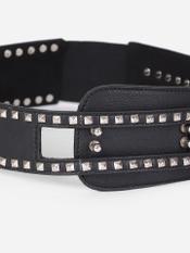 Black Rivet Corset Belt