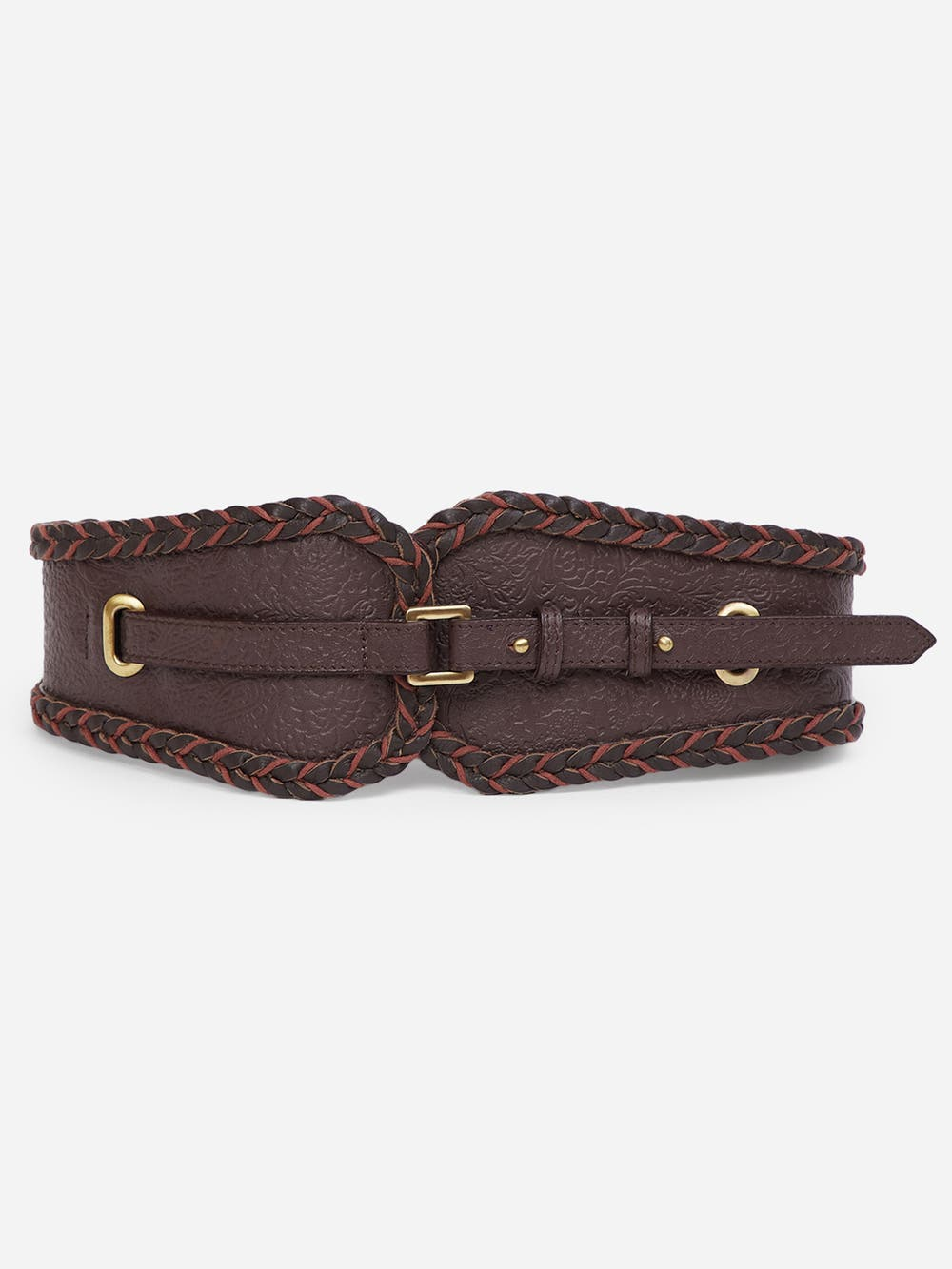 Wine Leather Belt